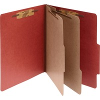 ACCO Pressboard 6 Part Classification Folders Letter Red Box of 10 ACC15036