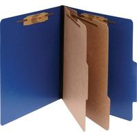 ACCO ColorLife PRESSTEX 6 Part Classification Folders Letter Dark ACC15663