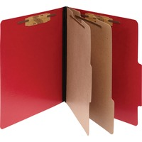 ACCO ColorLife PRESSTEX 6 Part Classification Folders Letter Red ACC15669