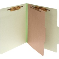 ACCO Pressboard 4 Part Classification Folders Legal Leaf Green Box ACC16044