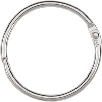 ACCO Loose Leaf Rings 1 12inch Capacity Silver 100Box ACC72204