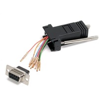 StarTech.com - Modular adapter - Serial - DB-9 (F) - RJ-45 (F) - 1 x DB-9 Female - 1 x RJ-45 Female