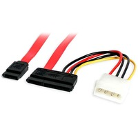 StarTech.com 18in SATA Serial ATA Data and Power Combo Cable - 2 x Power - 2 x Female SATA