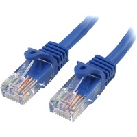 StarTech.com 6 ft Blue Snagless Cat5e UTP Patch Cable - Category 5e - 6 ft - 1 x RJ-45 - 1 x RJ-45 - Blue