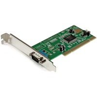 StarTech.com 1 Port PCI RS232 Serial Adapter Card with 16550 UART - 1 x 9-pin DB-9 Male RS-232 PCI - 1 Pack