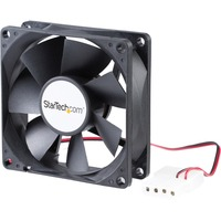 StarTech.com 80x25mm Dual Ball Bearing Computer Case Fan w/ LP4 Connector - 80 mm - 3000 rpm Dual Ball Bearing