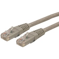 StarTech.com 50 ft Gray Molded Cat6 UTP Patch Cable - ETL Verified - Category 6 - 50ft - Gray