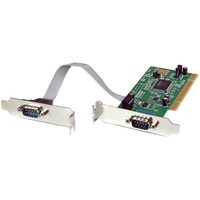 StarTech.com 2 Port PCI Low Profile RS232 Serial Adapter Card with 16550 UART - Low Profile 2 Port 16550 Serial PCI Card - Serial adapter - PCI - serial - 2 ports -