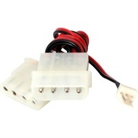 StarTech.com Fan Adapter - TX3 to 2X LP4 Power Y splitter Cable - 4 pin internal power M