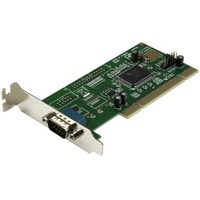 StarTech.com 1 Port PCI Low Profile RS232 Serial Adapter Card with 16550 UART - 1 x 9-pin DB-9 Male Serial PCI