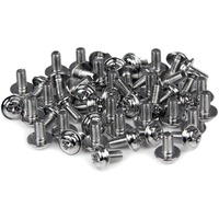 StarTech.com PC Mounting Computer Screws M3 x 1/4in Long Standoff 50 Pack