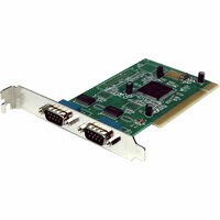 StarTech.com 2 Port PCI RS232 Serial Adapter Card with 16950 UART - 2 x 9-pin DB-9 Male Serial PCI - 1 Pack