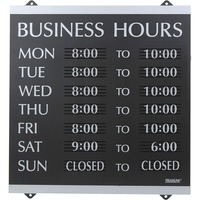 U.S. Stamp & Sign Century Business Hours Sign 4247