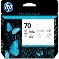 HP 70 Photo Black and Light Gray Printhead - Photo Black, Light Gray - Inkjet