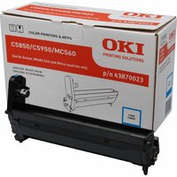 Oki 43870023 LED Imaging Drum - Cyan