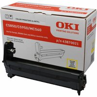 Oki 43870021 LED Imaging Drum - Yellow