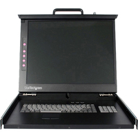 StarTech.com 1U 19 Rackmount LCD Console - USB + PS/2 - 1 Computer(s) - 19 Active Matrix TFT LCD - 1 x HD-15 Video