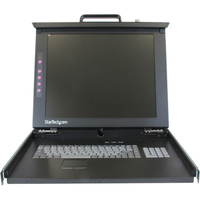 StarTech.com 1U 17 Rackmount LCD Console - USB + PS/2 - 1 Computer(s) - 17 Active Matrix TFT LCD - 1 x HD-15 Video