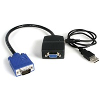 StarTech.com 2 Port VGA Video Splitter - USB Powered - 1 x HD-15 Video In