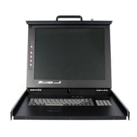 StarTech.com 1U 19 Rackmount LCD Console with 16 Port Multi-Platform KVM - 16 Computer(s) - 19 Active Matrix TFT LCD - 1U Height