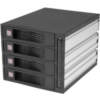 StarTech.com 4 Drive 3.5in Trayless Hot Swap SATA Mobile Rack Backplane - 4 x Total Bay - 4 x 3.5 Bay