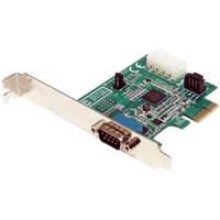 StarTech.com 1 Port Native PCI Express RS232 Serial Adapter Card with 16950 UART - 1 x 9-pin DB-9 Male RS-232 PCI Express