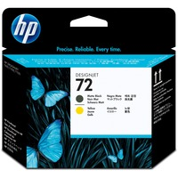 HP 72 Original Printhead - Matte Black, Yellow - Inkjet - 1 Each