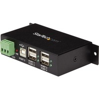 StarTech.com Mountable 4 Port Rugged Industrial USB Hub - 4 x 4-pin Type A Female USB 2.0 USB