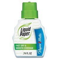 Paper Mate Liquid Paper Fast Dry Correction Fluid - Foam 0.74 fl oz - White - Fast-drying, Spill Resistant - 12 / Dozen PAP5640115