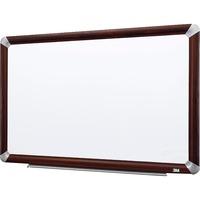 3M Mahogany Frame Melamine Dry erase Boards MMMM9648FMY