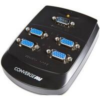 StarTech.com 4 Port Wall Mount VGA Video Splitter - 1 x HD-15 Video In