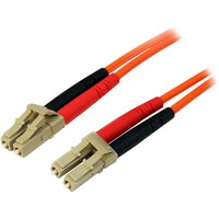 StarTech.com 1m Fiber Optic Cable - Multimode Duplex 50/125 - LSZH - LC/LC - OM2 - LC to LC Fiber Patch Cable - 2 x LC Male Network - 2 x LC Male Network - Orange
