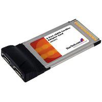 StarTech.com 2 Port CardBus eSATA Laptop Controller Adapter Card - 2 x 7-pin Serial ATA/150 External SATA - CardBus