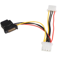 StarTech.com SATA to LP4 Power Cable Adapter with 2 Additional LP4 - Black