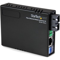 StarTech.com 10/100 Ethernet to Multi Mode Fiber Media Converter SC 2 km - 1 x RJ-45