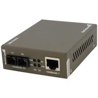 StarTech.com 1000 Mbps Gigabit Multi Mode Fiber Ethernet Media Converter SC 550m - 1 x RJ-45 Network