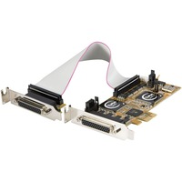 StarTech.com 8 Port PCI Express Low Profile Serial Adapter Card - PCI Express - 8 x DB-9 RS-232 Serial Via Cable - Plug-in Card