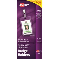 2-5//8 x 3-1//2 Portrait 2920 50 Pack Clear Avery Name Badge Holder