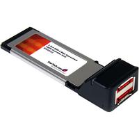 StarTech.com 2 Port SATA 6 Gbps ExpressCard eSATA Controller Card - 2 x 7-pin Male Serial ATA/600 External SATA