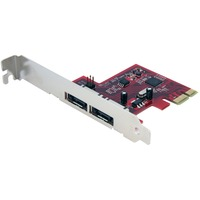StarTech.com 2 Port SATA 6 Gbps PCI Express eSATA Controller Card - 2 x 7-pin Male Serial ATA/600 External SATA