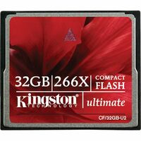 Kingston Ultimate CF/32GB-U2 32 GB CompactFlash - 1 Card - 266x Memory Speed