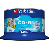 Verbatim 43438 CD Recordable Media - CD-R - 52x - 700 MB - 50 Pack Spindle