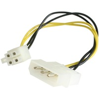 StarTech.com 6in LP4 to P4 Auxiliary Power Cable Adapter - 15.2cm - LP4 - ATX 12V DC
