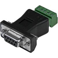 StarTech.com RS422 RS485 Serial DB9 to Terminal Block Adapter - 1 x DB-9 Male Serial - Terminal Block
