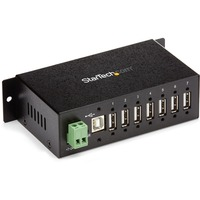 StarTech.com Mountable Rugged Industrial 7 Port USB Hub - 7 x Type A Female USB 2.0 USB Downstream