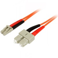 StarTech.com 1m Multimode 50/125 Duplex Fiber Patch Cable LC - SC - 1 x LC Male Network - 1 x SC Male Network - Orange