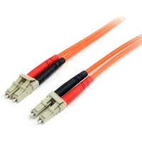 StarTech.com 1m Multimode 62.5/125 Duplex Fiber Patch Cable LC - LC - 2 x LC Male Network - 2 x LC Male Network - Orange