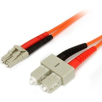 StarTech.com 3m Multimode 62.5/125 Duplex Fiber Patch Cable LC - SC - 2 x LC Male Network