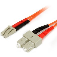 StarTech.com 1m Multimode 62.5/125 Duplex Fiber Patch Cable LC - SC - 2 x LC Male Network - 2 x SC Male Network - Orange