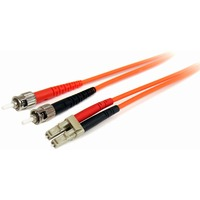 StarTech.com 3m Multimode 62.5/125 Duplex Fiber Patch Cable LC-ST - 2 x LC Male Network - Orange